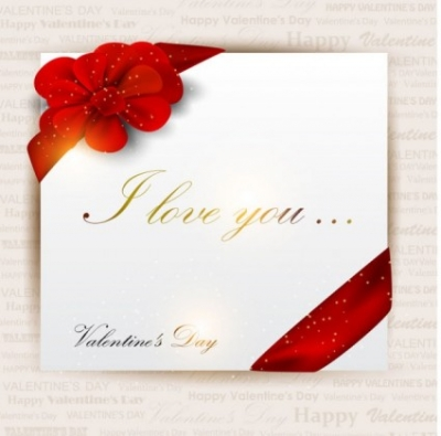 Free vector Vector Heart  exquisite valentine39s day greeting card vector
