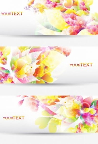Free vector Vector banner  fantasy flowers background banner template vector 1