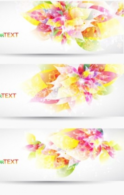 Free vector Vector banner  fantasy flowers background banner template vector 2
