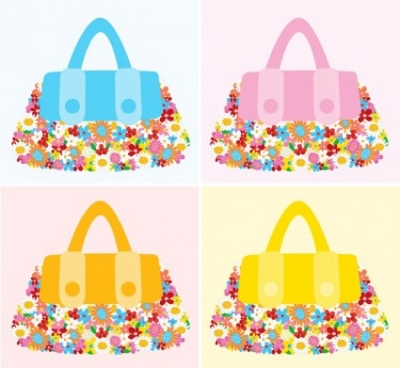 Free vector Vector flower  Fashion Accessories Flower Bags