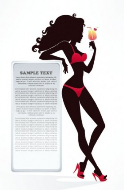 Free vector Vector Silhouettes  fashion beauty silhouette 02 vector