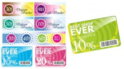 Free vector Vector misc  fashion discount card template vector with discount coupons