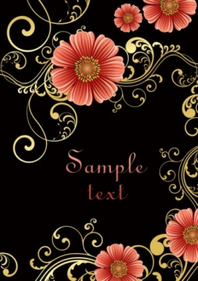 Free vector Vector background  fashion floral background 02 vector