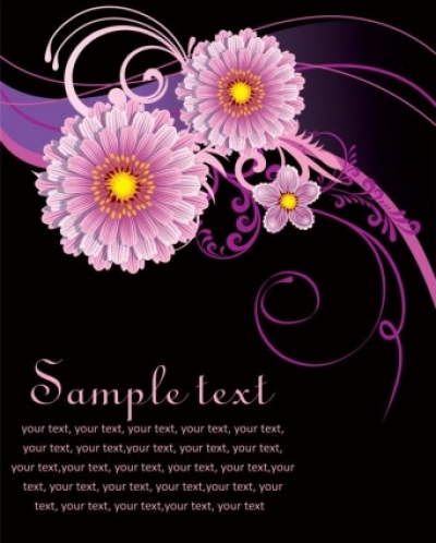 Free vector Vector background  fashion floral background 04 vector