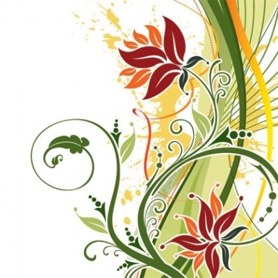 Free vector Vector floral  Fashion Floral Background Vector
