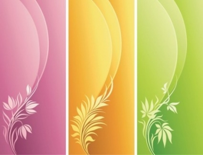 Free vector Vector floral  Fashion Floral with Curve Background