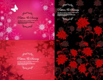 Free vector Vector flower  fashion flower pattern background vector