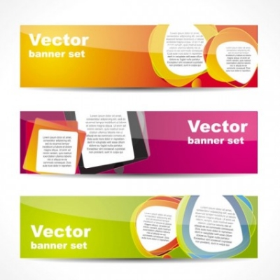 Free vector Vector banner  fashion glossy banner 02 vector