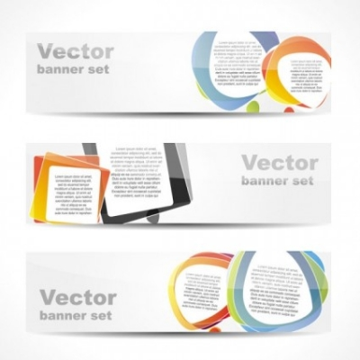 Free vector Vector banner  fashion glossy banner 03 vector