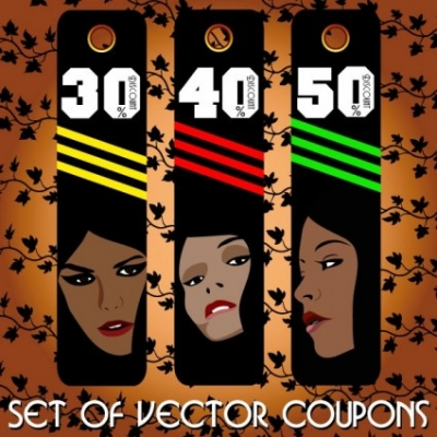 Free vector Vector misc  fashion label 04 vector