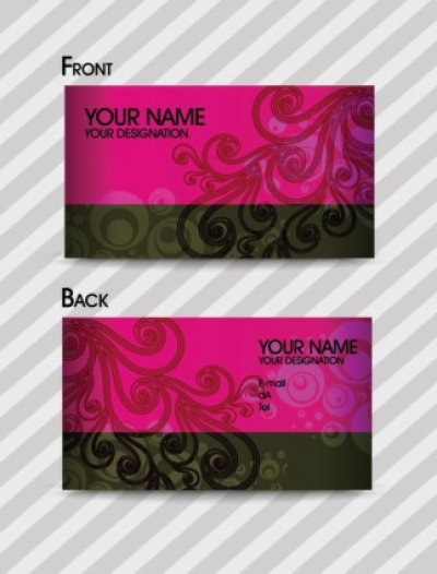 Free vector Vector pattern  fashion pattern business card template 02 vector