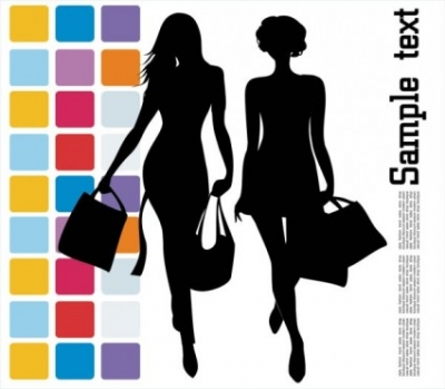 Free vector Vector Silhouettes  fashion shopping beauty silhouette 04 vector