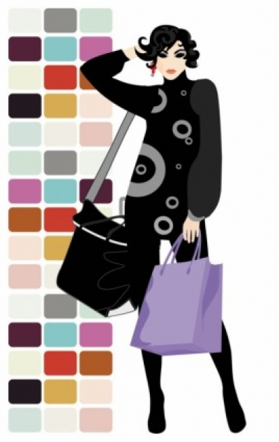Free vector Vector Silhouettes  fashion shopping beauty silhouette 05 vector