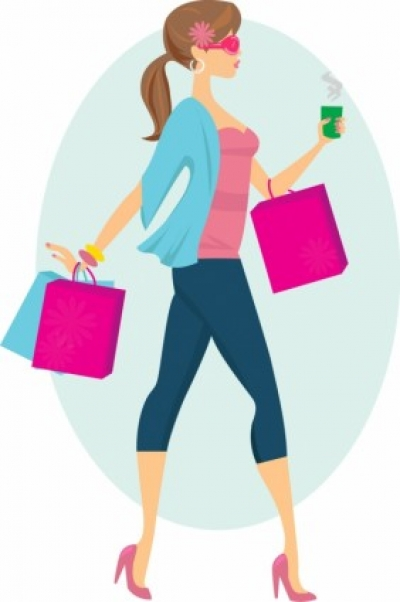 Free vector Vector people  Fashion Shopping Girl