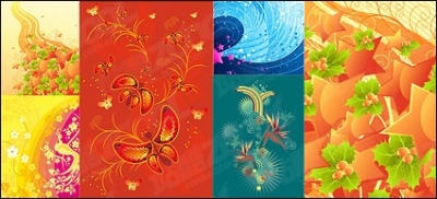 Free vector Vector flower  Fashion Trend theme of the tread material vector illustrations