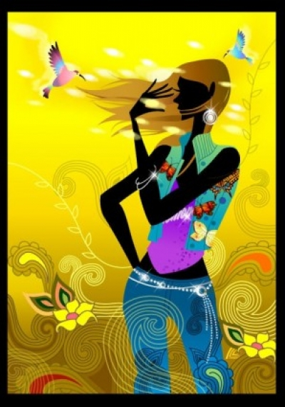 Free vector Vector people  fashion vector girl living a simple 1