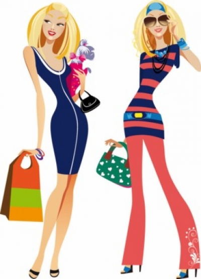 Free vector Vector people  fashion women illustrator 02 vector