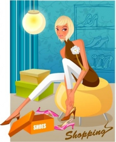 Free vector Vector people  fashion women shopping 11