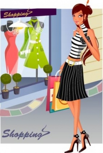 Free vector Vector people  fashion women shopping 14