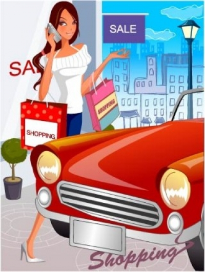 Free vector Vector people  fashion women shopping 20