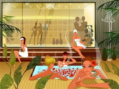 Free vector Vector people  fashion women vector in the spa