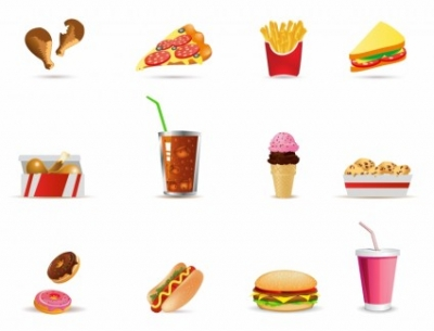 Free vector Vector icon  Fast Food icons
