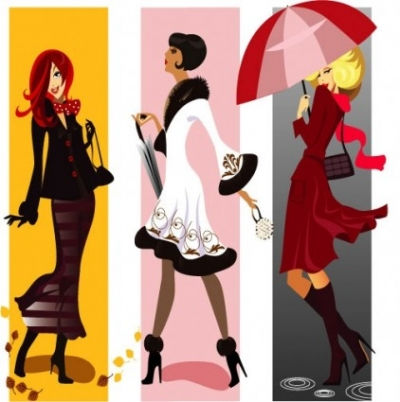 Free vector Vector misc  female characters vector fashion