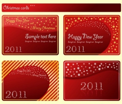 Free vector Vector misc  festive red card template vector