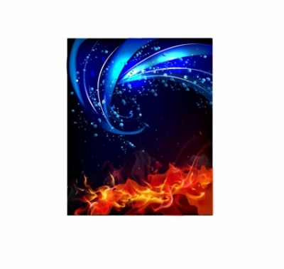 Free vector Vector abstract  Fire and water background