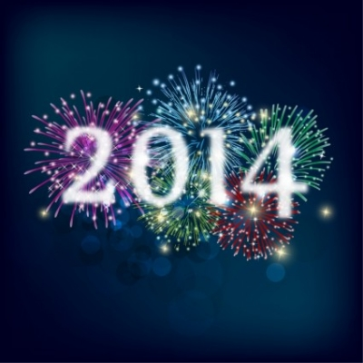 Free vector Vector misc  Fireworks and Happy New Year 2014