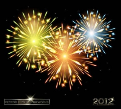 Free vector Vector background  Fireworks background
