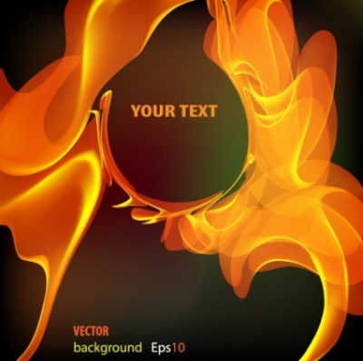 Free vector Vector background  Flame text background vector