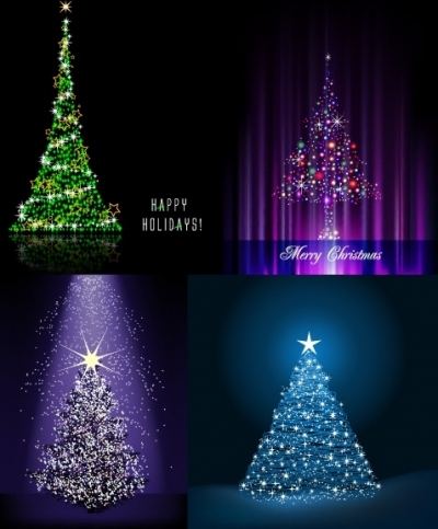 Free vector Vector Christmas  flash christmas tree vector