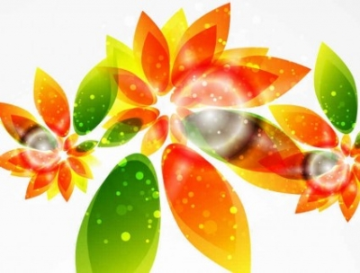 Free vector Vector background  Floral Abstract Vector Background