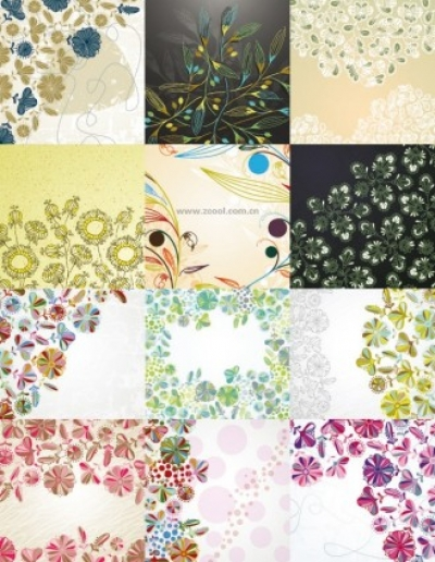 Free vector Vector background  floral background vector cute