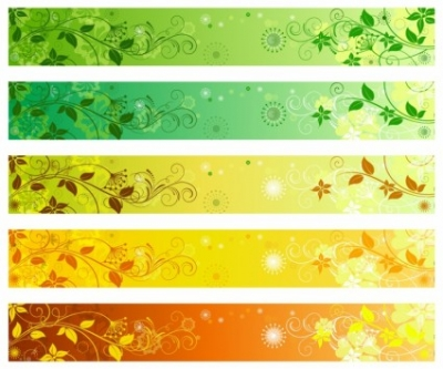 Free vector Vector banner  Floral banners