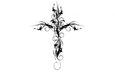 Free vector Vector floral  Floral Cross