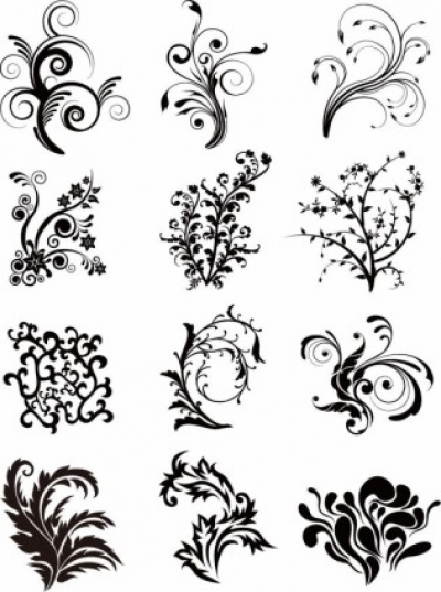 Free vector Vector floral  Floral Curves Vector Set