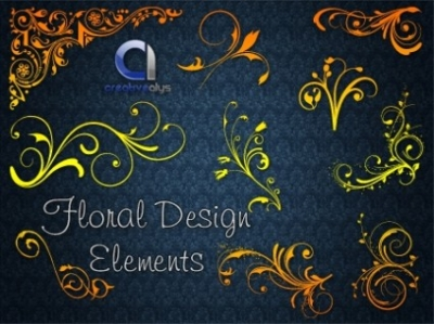 Free vector Vector floral  Floral Design Elements