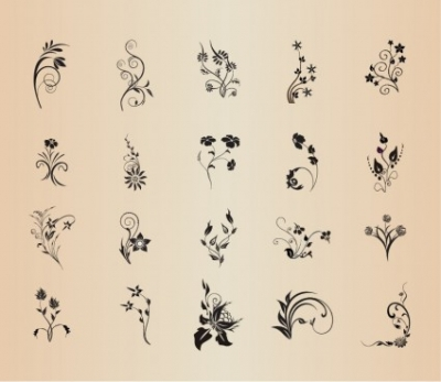 Free vector Vector floral  Floral Element Set Vector Garaphic