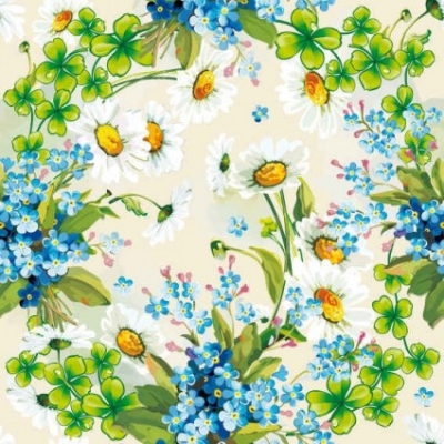 Free vector Vector background  Floral Flowers Blue background