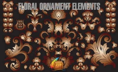 Free vector Vector floral  Floral Ornament Elements