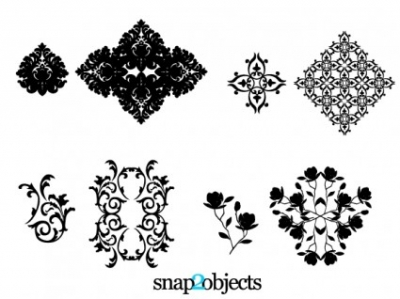 Free vector Vector floral  Floral Ornaments
