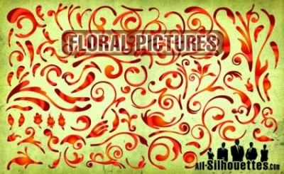 Free vector Vector Silhouettes  Floral Pictures