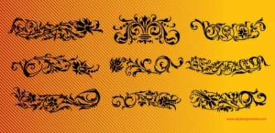 Free vector Vector floral  Floral Scrolls