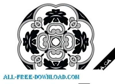Free vector Vector floral  Floral Stamps