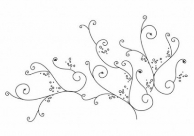 Free vector Vector floral  Floral Swirl Ornament Vector