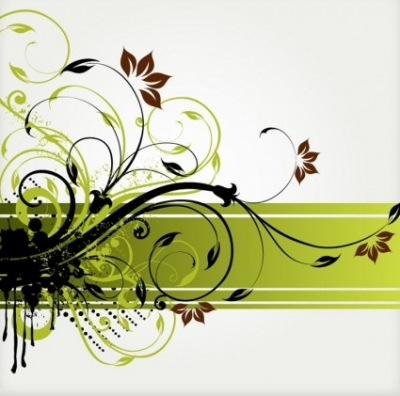 Free vector Vector floral  Floral Swirl Vector Background