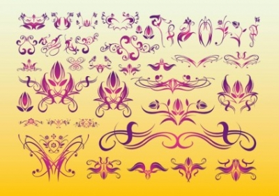 Free vector Vector floral  Floral Tattoo Art
