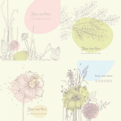 Free vector Vector floral  floral vector line drawing